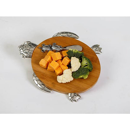 Turtle Cheese Board & Spreader