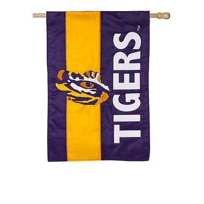 LSU State Embellished House Flag 29x44