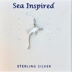 Dolphin Pendant with Jump Ring - Sterling Silver