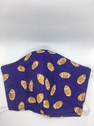 Purple & Gold Football Mask