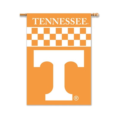 """Tennessee Volunteers 2-Sided 28"""" X 40"""" Banner W/ Pole Sleeve"""