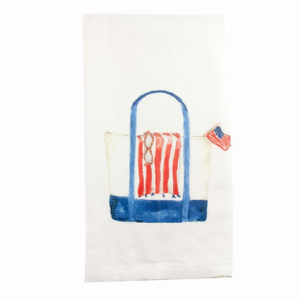 Beach Bag Blue Kitchen Towel