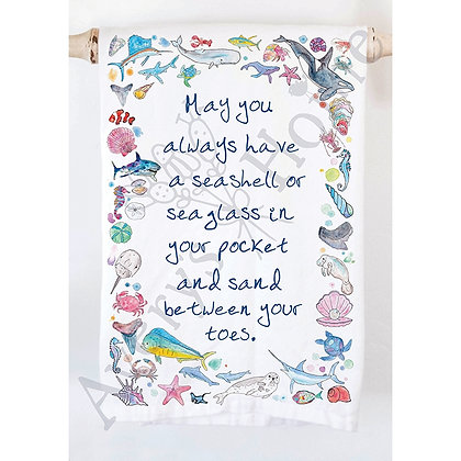 Ocean Blessing Kitchen Towel
