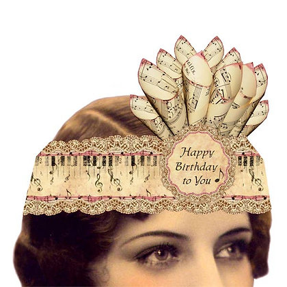 Happy Birthday Music Card Tiara