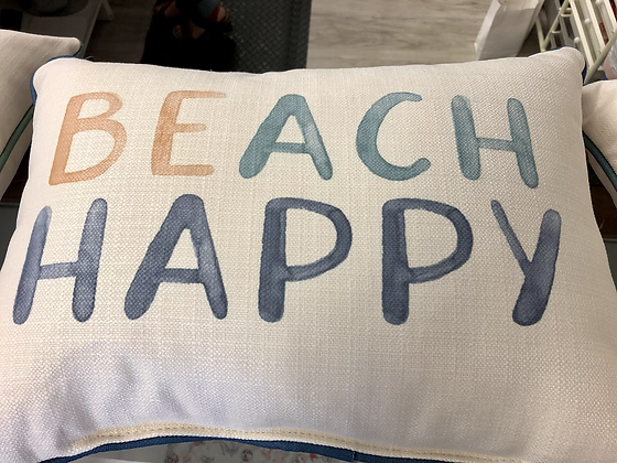 Beach Happy Pillow