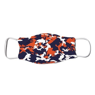 Auburn Camo Orange and Blue Mask