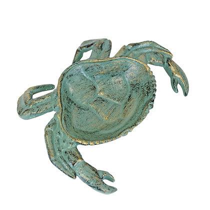 Crab Green Metal Dish