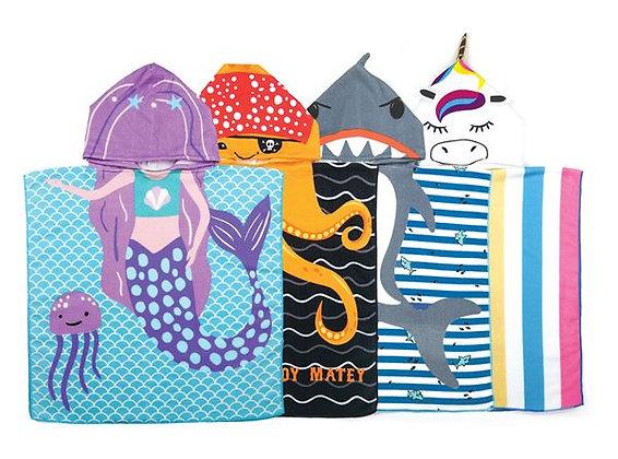 Kids Hooded Beach Towels