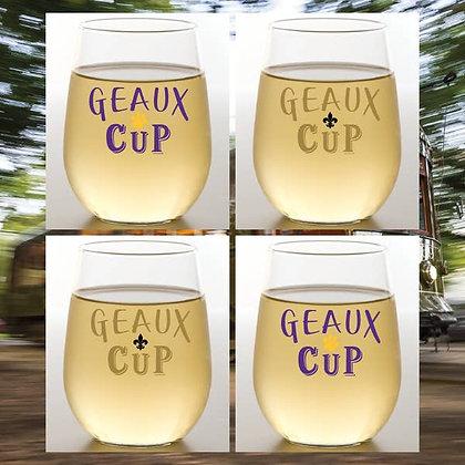Geaux Wine Shatterproof Wine Glass - set of 2