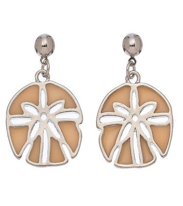 Stained Glass Sand Dollar Earrings