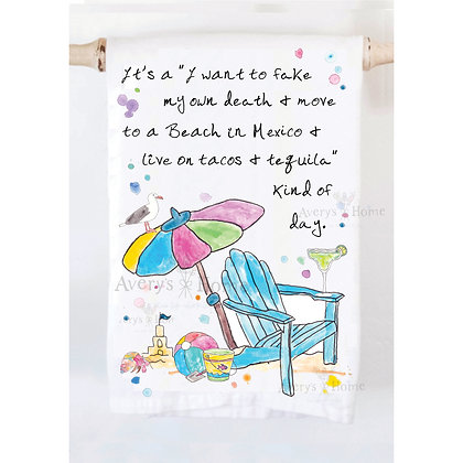 Move to the Beach Kitchen Towel