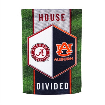 University of Alabama & Auburn University House Divided Garden Flag 12.5x18
