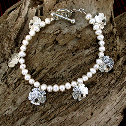 Sand Dollar Freshwater Pearl Bracelet copyright by Maurice Milleur