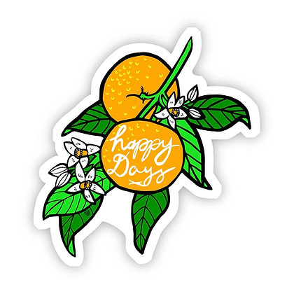 Happy Days Orange Vinyl Sticker