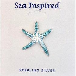 Starfish Pendant Swarovski Crystal Elements