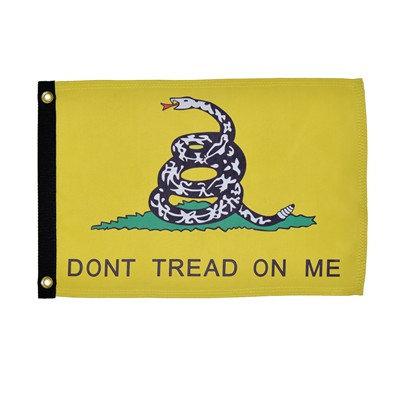 Don't Tread on Me Lustre 12x18 Grommet Flag