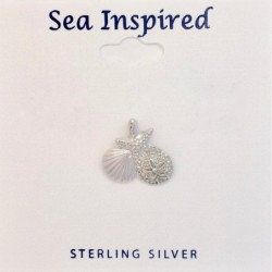 Scallop Shell, Sand Dollar, and Starfish Pendant