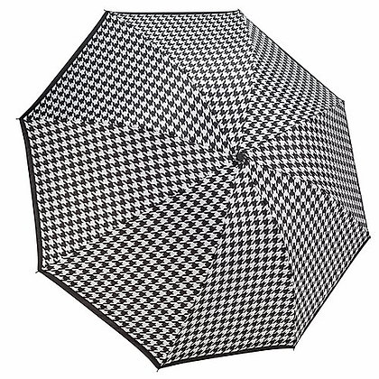 Houndstooth Reverse Close Umbrella