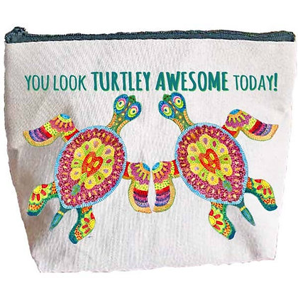 Boho Turtley Awesome Zipper Pouch