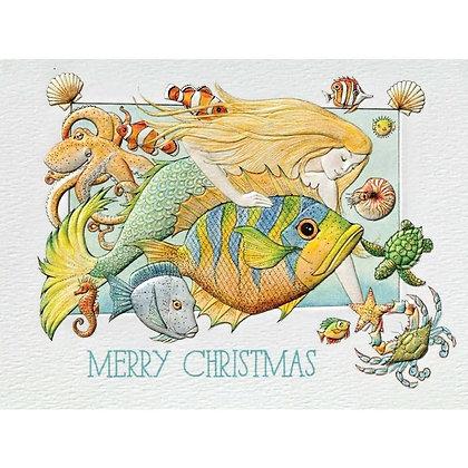 Playful Mermaid - Petite Christmas Cards