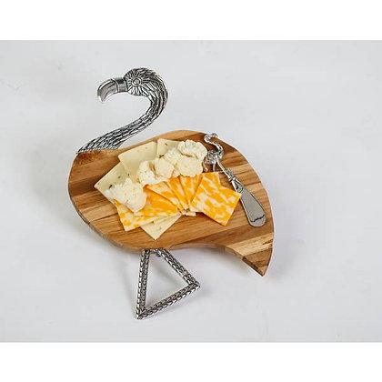 Flamingo Cheese Board & Spreader