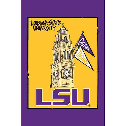 Louisiana State University Tower Garden Flag