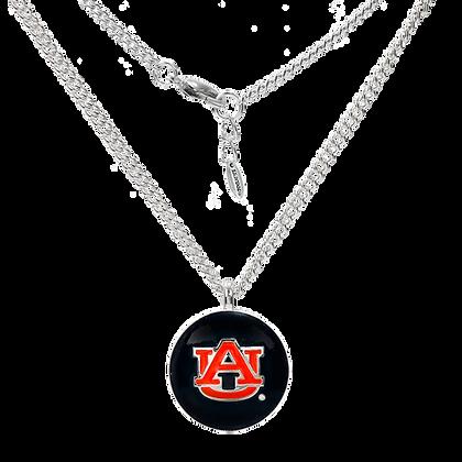 Auburn University Enamel Round Necklace