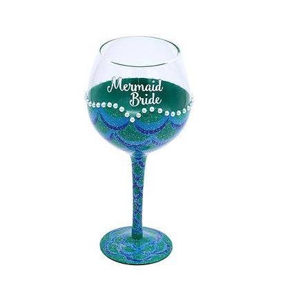 Mermaid Bride Wine Glass