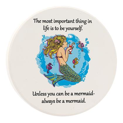 Always Be A Mermaid Car Coaster