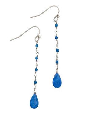 Teardrop Earrings Dark Blue
