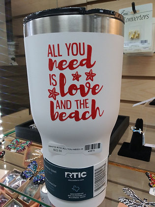 All you need is love 30 oz Tumbler