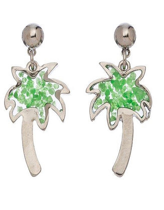Stained Glass Palm Tree Earrings