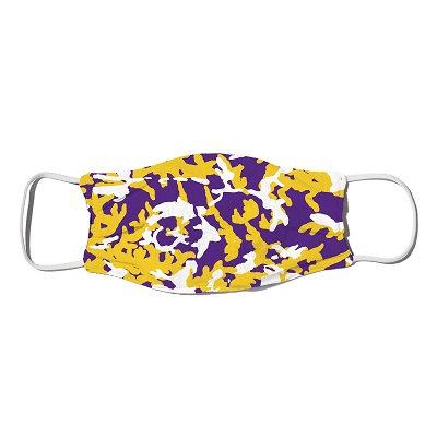 LSU Purple and Gold Camo Mask