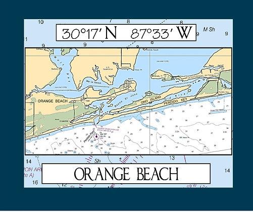 Soft Fleece Throw Blanket - Map of Orange Beach, AL