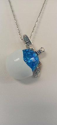 Hatchling Turtle Pendant - Cobalt Blue