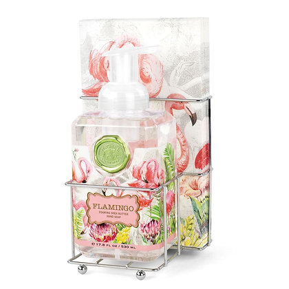 Flamingo Foaming Soap and Napkin Set