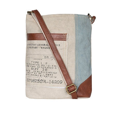 Identified Up-Cycled Canvas Crossbody