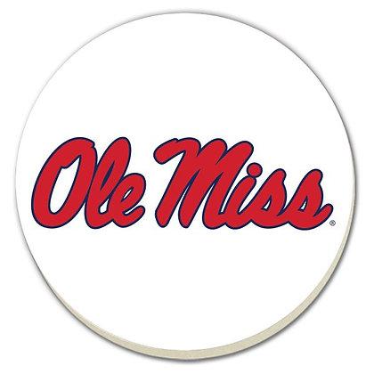 Ole Miss Script Coasters - Set of 4