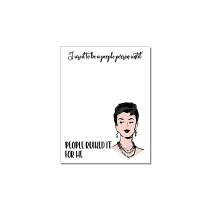 People Person Notepad