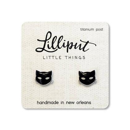 Spooky Black Cat Earrings