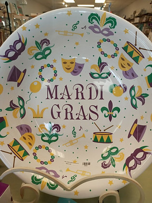 Mardi Gras Large Serving Platter