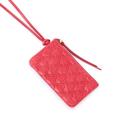 HOBO POP ID Card Bag Charm in Geranium