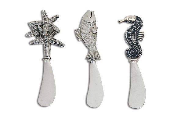 Coastal Themed Cheese & Appetizer Spreaders Box Set