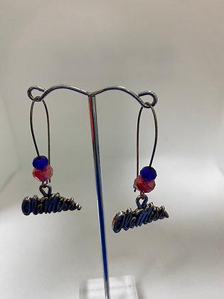 Ole Miss Beaded Earrings