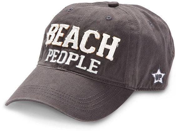 Beach People Adjustable Baseball Cap - Dark Gray