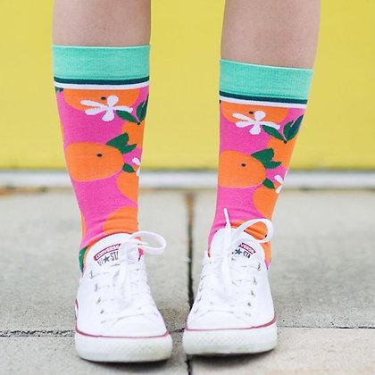 Orange You Glad Crew Socks
