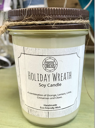 Holiday Hearth Soy Candle - 8 oz