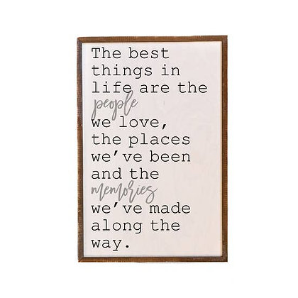 The Best Things In Life Wooden Wall Hanging