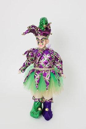 "Mardi Gras Purple Dazzler Jester 18"""