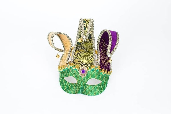 Mardi Gras Mask with Fabric